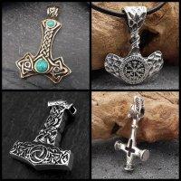 Thor\'s Hammer / Mjölnir / Wolf Cross