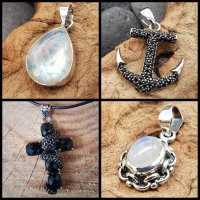 Pendants with Gems & Stones