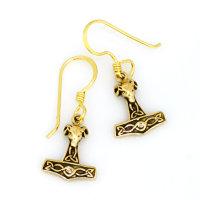 "Thorshammer Ohrhänger ""Mjölnir"" aus Bronze"