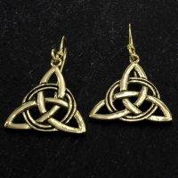 """Keltische """"Triqueta"""" Ohrhänger aus Bronze"""