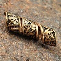 Runenspirale Bartperle aus Bronze