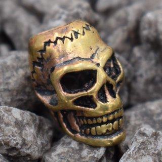 Totenkopf Wikinger Bartperle aus Bronze