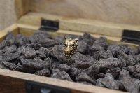 Wolfskopf Bartperle aus Bronze