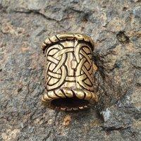 Bartperle mit keltischen Knoten aus Bronze