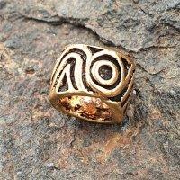 Bartperle mit keltischem Spiralmuster aus Bronze