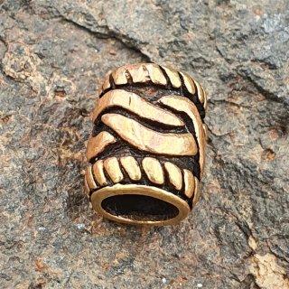 Bartperle mit keltischem Knoten aus Bronze