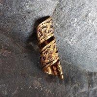 Spiralförmige Bartperle mit keltischen Knotenmuster...