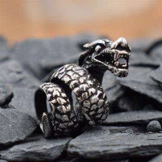 Drachen Bartperle aus 925 er Sterling Silber