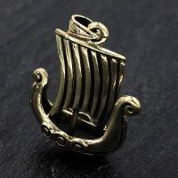 """Wikingerschiff """"Visundur"""" Bronze Schmuck Anhänger"""