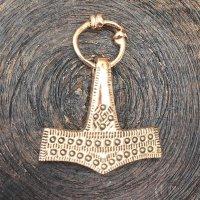 """Thors Hammer Anhänger """"Knut"""" aus Bronze"""