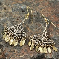 """Keltische Ohrhänger """"Malvina"""" mit keltischem Knoten aus Bronze"""