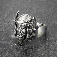 """Ring eines gallischen Häuplings """"Vercingetorix"""" aus Edelstahl 68 (21,6) / 12 US"""