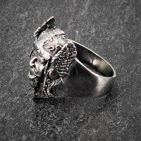 """Ring eines gallischen Häuplings """"Vercingetorix"""" aus Edelstahl 72 (23,0) / 14 US"""