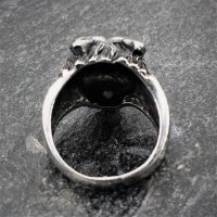 "Wolf Ring ""Fenris"" aus Edelstahl 75 (24,0) / 15 US"