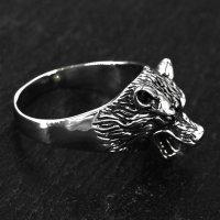 "Wolf Ring ""Hati"" aus Edelstahl 55 (17,5) / 7 US"