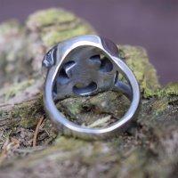 """Keltischer Ring """"Trigueta"""" aus Edelstahl 55 (17,5) / 7 US"""