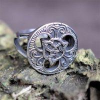 """Keltischer Ring """"Trigueta"""" aus Edelstahl 57 (18,5) / 8 US"""