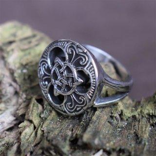 """Keltischer Ring """"Trigueta"""" aus Edelstahl 66 (21,0) / 11 US"""