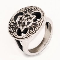 """Keltischer Ring """"Trigueta"""" aus Edelstahl 70 (22,3) / 13 US"""