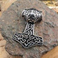 "Thors Hammer Anhänger ""TYR"" aus Edelstahl"