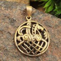 Odin auf seinem Pferd Sleipnir Amulett aus Bronze