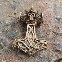 """Thors Hammer Anhänger """"Draugr"""" aus Bronze"""