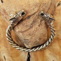 Odins Wölfe (FREKI & GERI) Armreif aus Bronze