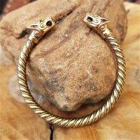 """""""SKALLI"""" Wikinger Wolf Armband aus Bronze"""