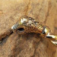"Armreif mit Drachenköpfen ""OSEBERG"" aus Bronze"