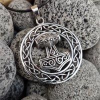 """Thors Hammer Anhänger """"AEGIR"""" aus Silber"""