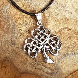 Keltischer Knoten Lebensbaum Anhänger aus Silber