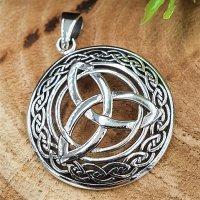 "Keltischer Knoten Anhänger ""LAGERTHA"" aus Silber"