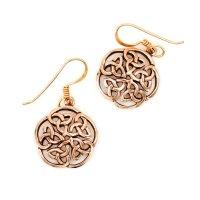 """Keltische Ohrhänger """"MORGANE"""" mit keltischem Knoten aus Bronze"""
