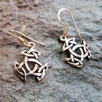 """Keltische Ohrhänger """"JUNA"""" mit keltischem Knoten aus Bronze"""