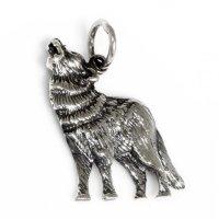 """Wolf Anhänger """"WULF"""" aus 925er Sterling Silber"""