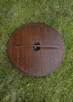 """Wikinger Rundschild """"SLEIPNIR"""", aus Holz, mit nordischem Pferdemotiv"""
