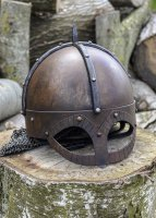 Der Gjermundbu Helm mit vernieteter Brünne, 2 mm Stahl