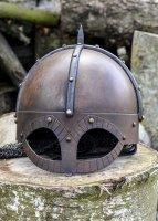 Der Gjermundbu Helm mit vernieteter Brünne, 2 mm Stahl Large: 64 cm x 23 cm x 20 cm 3,2 kg