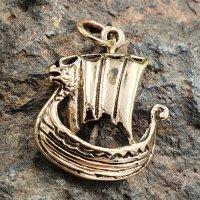 "Wikingerschiff ""Snekkja"" Bronze Schmuck..."