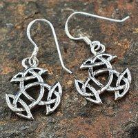 """Keltische Ohrhänger """"JUNA"""" mit keltischem Knoten aus 925er Sterling Silber"""