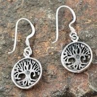 Yggdrasil der Weltenbaum - Ohrhänger aus 925er Sterling Silber
