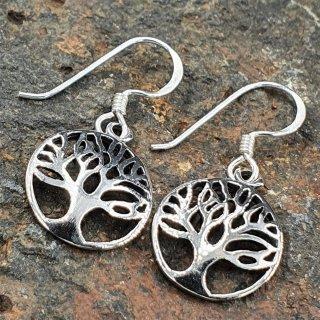 Lebensbaum Ohrhänger aus 925er Sterling Silber