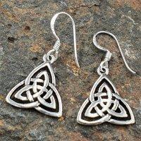 Keltische Dreiheits-Symbol Schmuck Ohrhänger aus 925er Sterling Silber