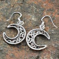 Keltische Halbmond Ohrhänger aus 925er Sterling Silber