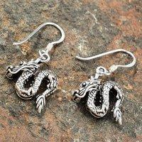 "Drachen Ohrhänger ""NIDHÖGGR"" aus 925er Sterling Silber"