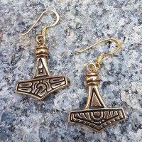 """Mjölnir Ohrhänger """"DONAR"""" aus Bronze"""