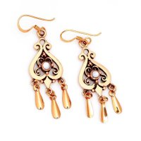 Bronze Ohrhänger mit beweglichen Elementen...