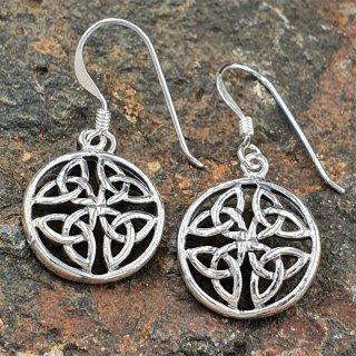 "Keltische Knoten Schmuck Ohrhänger ""SIRONA"" aus 925er Sterling Silber"