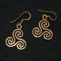 "Triskelen Schmuck Ohrhänger ""VENIA"" aus Bronze"