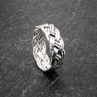 Keltischer Knoten Ring aus 925er Sterling Silber 66 (21,0) / 11 US